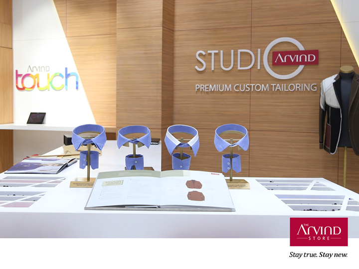 Tailored with years of expertise, perfected to the final thread, The Arvind Studio is your one-stop destination to bring out your flawless style.  Not yet visited our Store? Now's the time: bit.ly/TAS_Locator #StayTrueStayNew