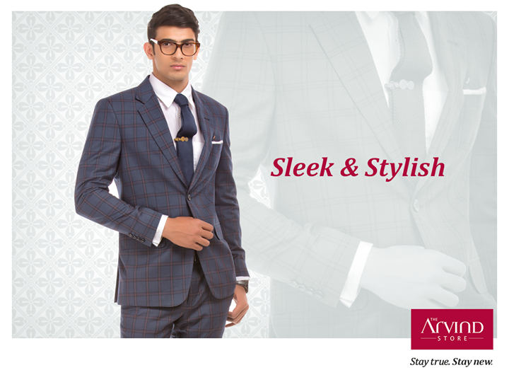 The complete workhouse statement. This checkered suit smoothly takes you from work to after hours, all without an effort.  So what's the wait? Get this versatile style today at your nearest The Arvind Store : bit.ly/TAS_Locator