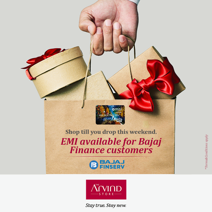 Here's your chance to buy your favorite clothing from The Arvind Store. Register with Bajaj Finserv today and avail our EMI scheme.