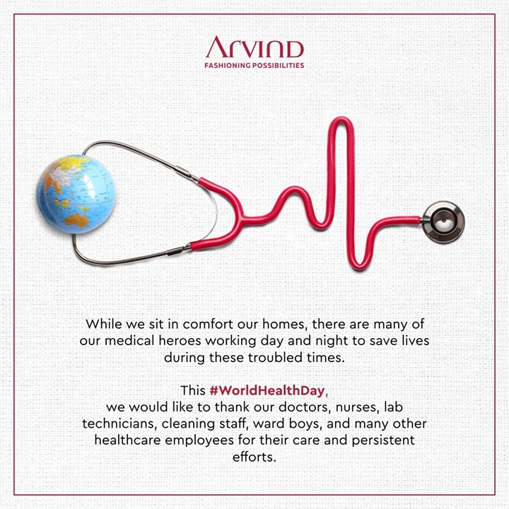 This #WorldHealthDay, we are expressing our gratitude to all doctors, nurses, lab technicians, cleaning staff, ward boys, and many other healthcare employees who are guiding us out of these dark and difficult times.  Stay Safe, Stay In! . . #gentlemenfashion #premiumclothing #mensclothes #everydaymadewell #smartcasual #fashioninstagram #dressforsuccess #itsaboutdetail #whowhatwearing #thearvindstore #classicmenswear #mensfashion #malestyle #WorldHealthDay #WorldHealthDay2020 #StayHomeStaySafe #SupportNursesAndMidwives #WHO #HealthDay #Health #StayHealthy