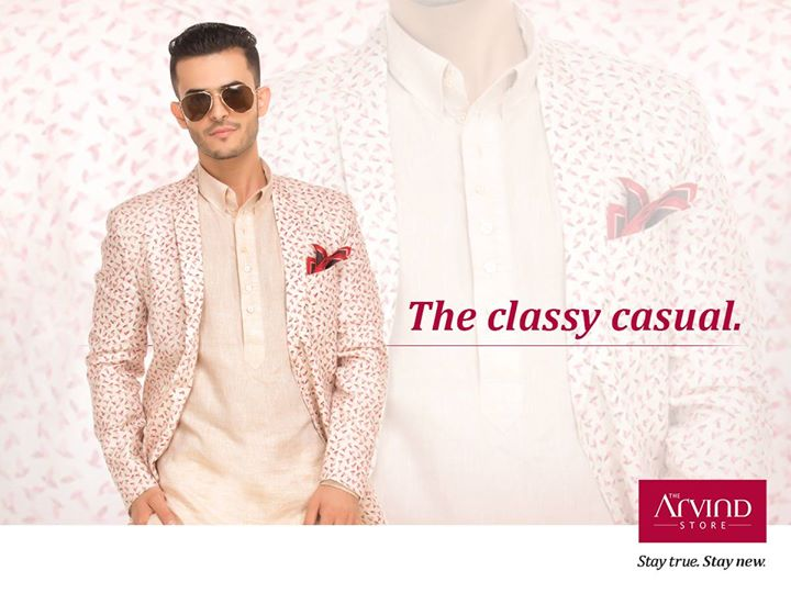 Printed jacket with a classy kurta is your relaxing rescue to your summertime celebrations.  Visit your nearest The Arvind Store today: bit.ly/TAS_Locator