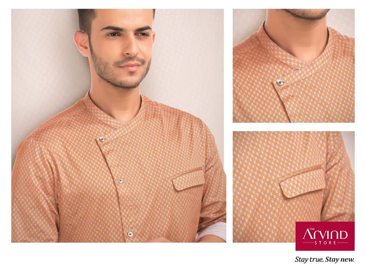 Light up your festive celebrations with the season's must-haves tones – rust and copper. Can there be a better combination?  Get this look from The Arvind Store today: bit.ly/TAS_Locator