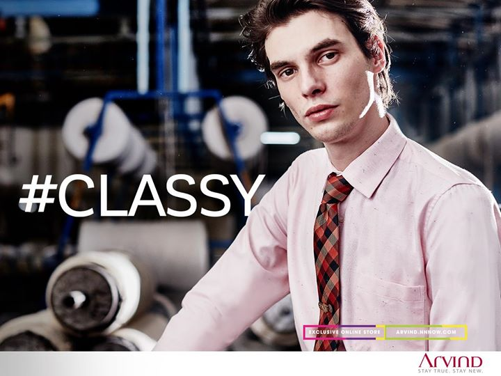 #StyleTip - Brighten up your work wear by pairing this semi-cutaway cotton shirt with a navy trouser.