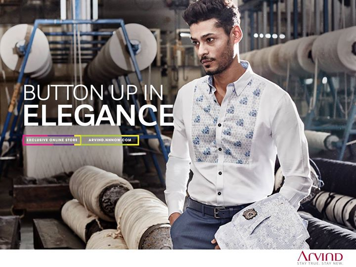 For all the debonair gentlemen looking for a statement piece in their wardrobe, this casual cotton shirt with a printed bib is an essential. #ReadyToWear #MadeInArvind