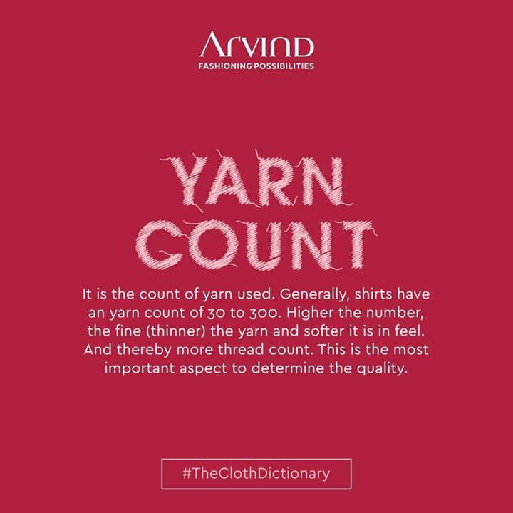Before any textile is made, the manufacturers have to produce the yarn. The quality of a sheet depends on its yarn count. This yarn count is a numerical value that tells you how fine or coarse yarn is. In technical terms, it's the value of the linear density (the diameter) to which that yarn was spun. It is believed that higher the number, better is the quality. . . #gentlemenfashion #premiumclothing #mensclothes #everydaymadewell #smartcasual #fashioninstagram #dressforsuccess #itsaboutdetail #whowhatwearing #thearvindstore #classicmenswear #mensfashion #malestyle #quarantineandchill #quaratine2020  #quarantinelife #yarncount #yarncounting #theclothdictionary
