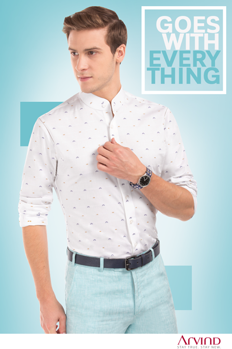 Be it in a meeting or at a dinner, impress everyone effortlessly by donning this printed shirt. #MustHaves