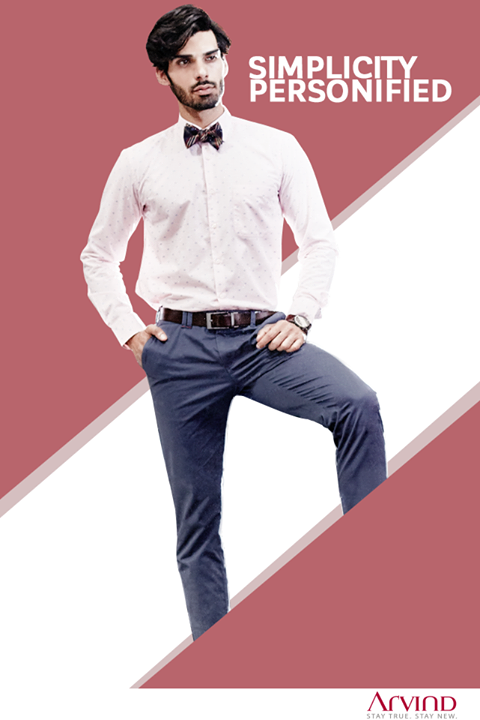 Classic shirt, crisp trouser and a bow-tie, a great outfit to end the week.
