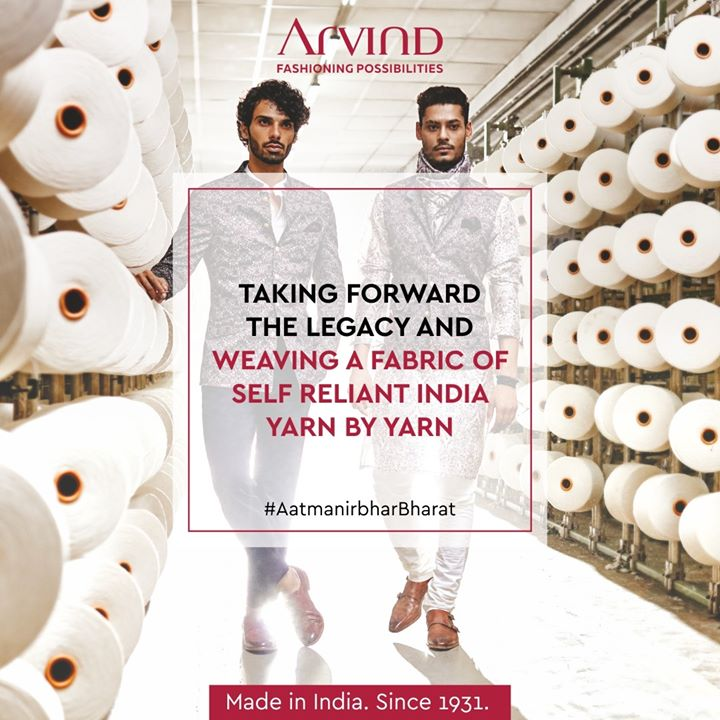 We are taking forward the legacy of strong leaders who started making clothes for Indians in India and then took the globe under their wings.  Now, let us together make India a self-reliant country and head on to the path of prosperity! . . #ArvindMenswear #Arvind #TheArvindStore #smartcasual #fashioninstagram #dressforsuccess #itsaboutdetail #whowhatwearing #thearvindstore #classicmenswear #mensfashion #malestyle #selfisolation #lockdown2020 #positivevibes #positive #positivemindset #openforbusiness #AatmanirbharBharat #VocalForLocal #LocalBusiness #SmallBusiness #SupportSmallBusiness