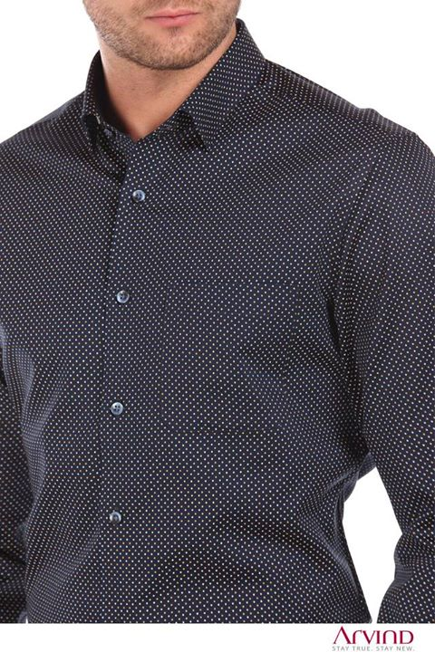 A shirt that makes comfort your style statement. Don it for the next evening party and make heads turn.