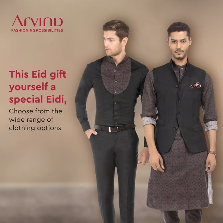 Celebrating Eid at home doesn't mean you can't dress your best. Gift yourself a special Eidi from Arvind. Choose from a wide range of traditional clothing options. .  . #ArvindMenswear #Arvind #TheArvindStore #smartcasual #fashioninstagram #dressforsuccess #itsaboutdetail #whowhatwearing #thearvindstore #classicmenswear #mensfashion #malestyle #selfisolation #lockdown2020 #positivevibes #positive #positivemindset ##eidmubarak #eid2020 #ramadan #ramadan2020 #ramadanmubarak