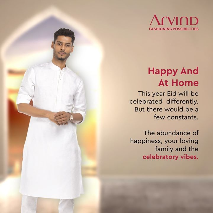 Feel happiness, comfort and love in your house. The celebratory vibes and your loving family will keep up the spirit of Eid this year. Awaiting for Eid with all the enthusiasm and joy! . . #ArvindMenswear #Arvind #TheArvindStore #smartcasual #fashioninstagram #dressforsuccess #itsaboutdetail #whowhatwearing #thearvindstore #classicmenswear #mensfashion #malestyle #selfisolation #lockdown2020 #positivevibes #positive #positivemindset ##eidmubarak #eid2020 #ramadan #ramadan2020 #ramadanmubarak