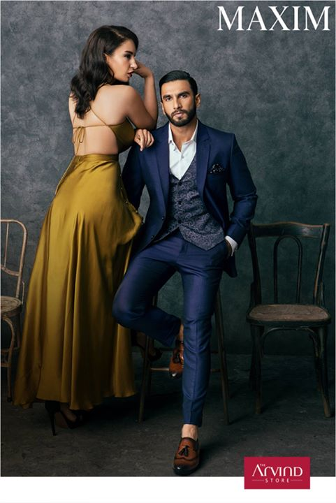 Ranveer Singh shows us how to look effortlessly dapper this season. He looks stunning in the 3-piece Royal Blue suit from our latest AW'17 collection in a photoshoot for Maxim.