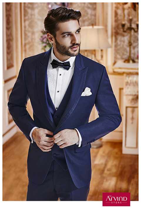 Life is undoubtedly full of celebratory moments. Make it an unforgettable one by pairing our 3 piece suit with a pleated tuxedo white shirt. Book an appointment to know more http://bit.ly/TASBookAnAppointment