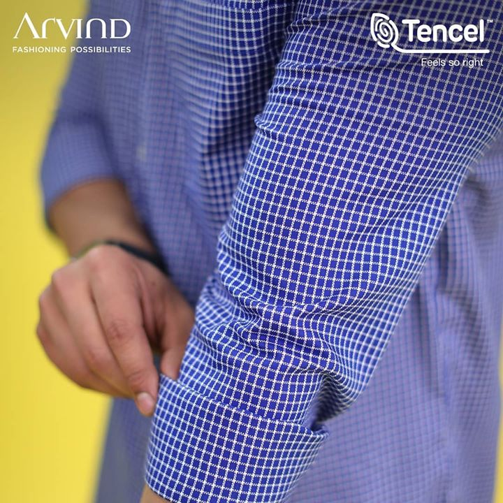 Roll up those sleeves and breathe easy with your new lightweight outfit from the house of Arvind in partnership with TENCEL™. A collection that offers enhanced breathability for the environment and you. Produced with less water consumption, these shirts are both eco-friendly and fashionable at the same time. With deeper, richer color tones, you're bound to make heads turn! So give back to the earth with your choice in fashion this summer with the #FeelGoodFashion.  Tag someone who would love feel-good sustainable fashion!  #Tencel #Arvind #TheArvindStore #ADArvindReaadytoWear #ArvindMensWear #ADSince1931 #MensFashion #SustainableFashion #SustainableLiving #ConsciousClothing #SustainableShirts  #Fashion #Menswear #Sustainability