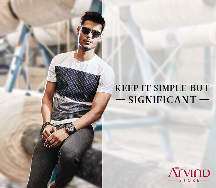 A simple approach to stand out from the rest. #StyleQuote #MadeInArvind #ReadyToWear  #CasualFridays
