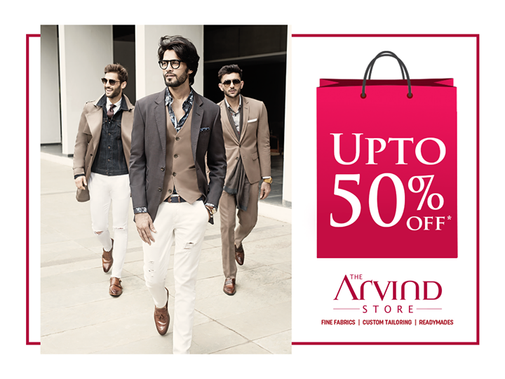 This holiday season, visit the nearest Arvind store and select your style for an unbelievable price. Hurry up to avail upto 50% off.  http://bit.ly/TASStoreLocator