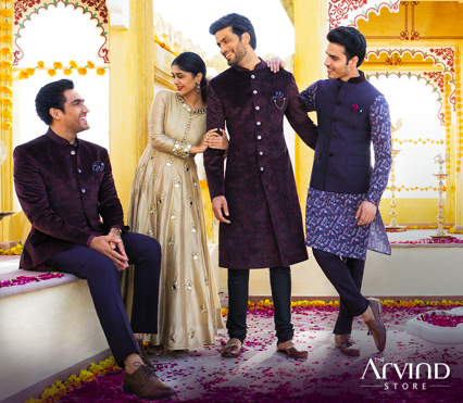 Give your ceremonial wear a contemporary twist and add a touch of elegance to your celebration with our ceremonial collection. Visit our stores and get amazing discounts on best styles. http://bit.ly/TASBookAnAppointment