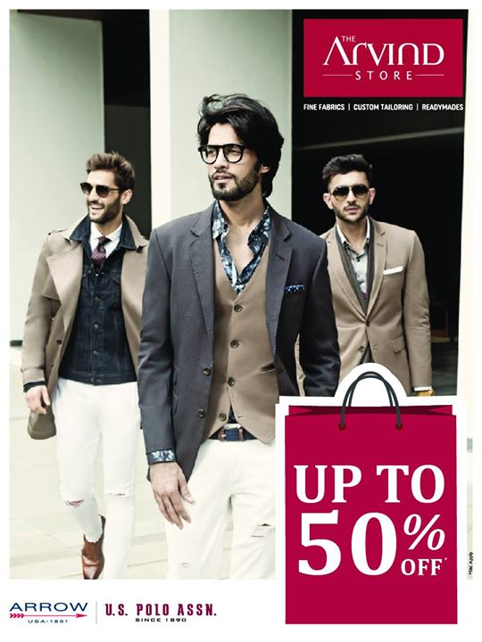 Here's another reason to revamp your wardrobe. Head over to our stores and pick your favourite outfit at an unbelievable price. Hurry up to avail discount upto 50% off on fine fabrics, Arrow and US Polo  T&C* applied http://bit.ly/TASStoreLocator