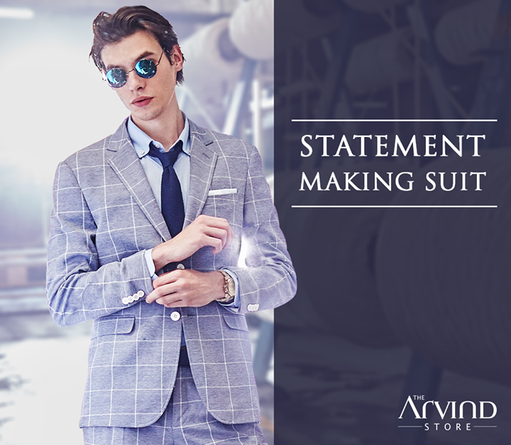 Lightweight and smart, this suit was crafted keeping you in mind. Visit our store and avail discount upto 50% OFF on on fine fabrics, Arrow and US Polo, T&C* applied  bit.ly/TASStoreLocator
