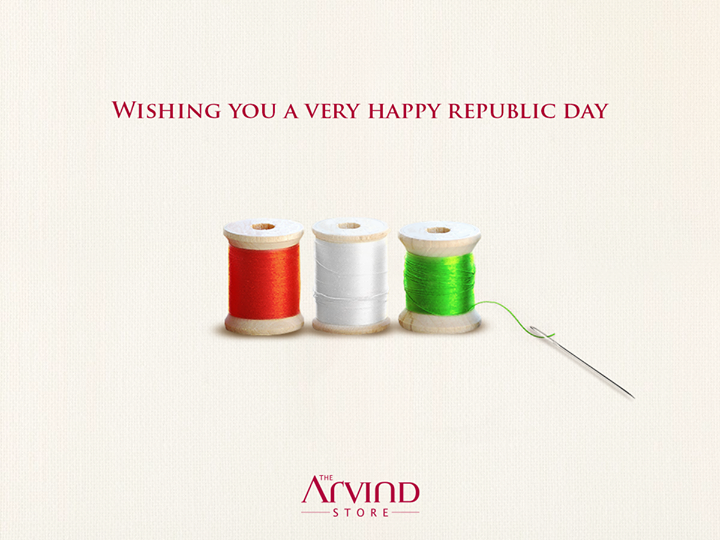 With 174 outlets placed at 120 prime locations, The Arvind Store is successfully weaving joyful moments across the entire nation. Wishing you all a very #HappyRepublicDay