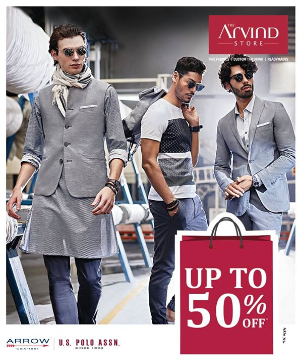 Look your best and get ready to celebrate Valentine's Day by availing discount upto 50% OFF on fine fabrics, Arrow and US Polo. Visit our stores – bit.ly/TASStoreLocator