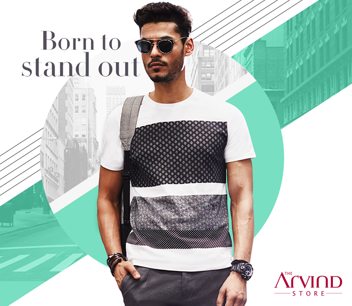 Smart printed t-shirts are an essential and often make heads turn. Get this t-shirt from our stores today - bit.ly/TASStoreLocator
