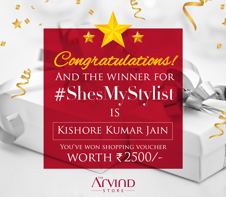 A big round of applause for our winner Kishore Kumar Jain.  DM us your complete address and contact details.