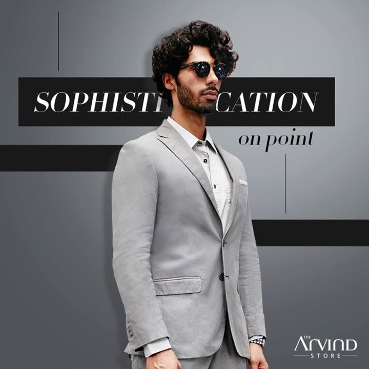 Redefine the benchmark with the easy and comfortable grey suit from our latest collection. Visit our store today - bit.ly/TASStoreLocator