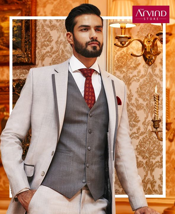 Be the epitome of excellence as you greet your friends and family at a wedding. Make it a memorable one with this classic waistcoat and suit. Book an appointment today - http://bit.ly/TASBookAnAppointment