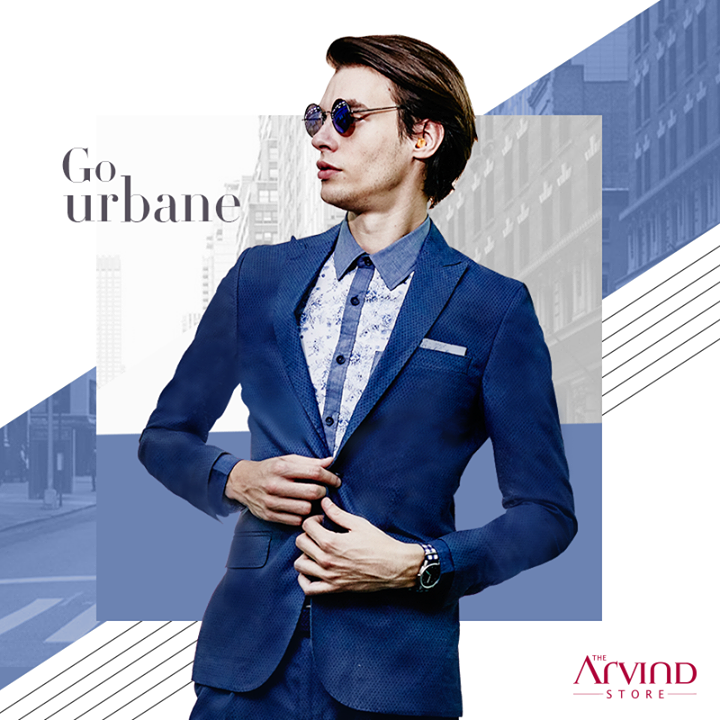 Elevate your persona and strut with confidence by donning this uber-cool blue outfit.
