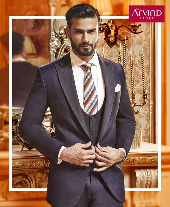 Adorn the premium suits that are handcrafted to perfection. Experience the celebratory fashion retreat at #TheArvindStore. Book your appointment today - http://bit.ly/TASBookAnAppointment
