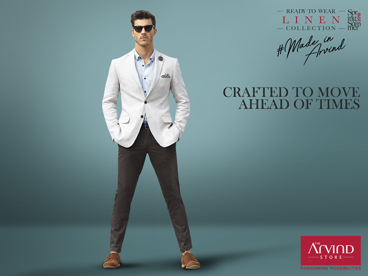Discover expert craftsmanship suited for your summer wardrobe. Stay breezy with this impeccable casual linen blazer and pair it with a comfortable tencel shirt. Explore here: bit.ly/TASStoreLocator #SpringSummer18