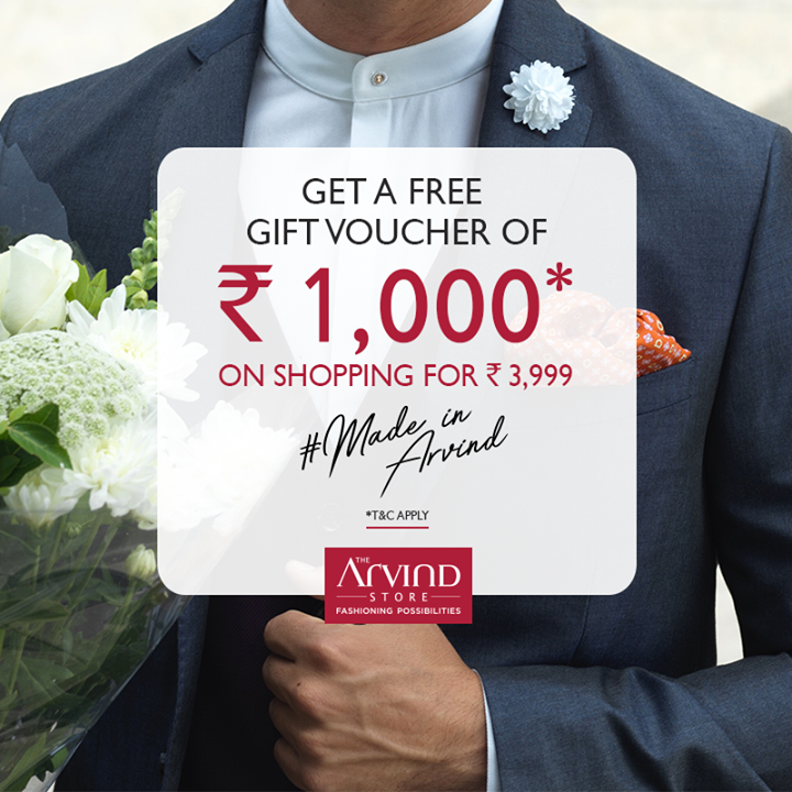 Why to go places in order to get the ideal summer look? Shop from our #ReadyToWear collection worth Rs. 3999* & get a gift voucher of Rs. 1000. Redeem now: https://bit.ly/2wPLbtJ