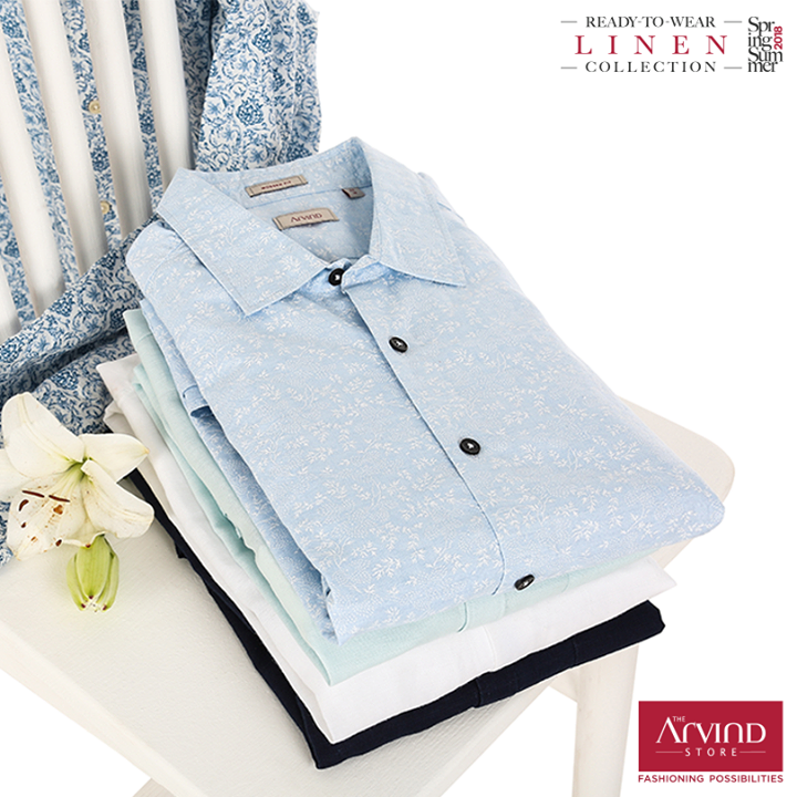 Summery linen Shirts are an absolute wardrobe essential, check out the Ready to Wear Linen collection at The Arvind Store, near you. Shop for Rs. 3999* and get a Rs. 1000 Gift voucher. Redeem Now  - https://bit.ly/2wPLbtJ #ReadyToWear#MadeInArvind #SpringSummer #MensWear