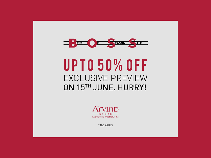 Get the exclusive preview of our SALE. Avail upto 50% off on 15th June. Hurry! Visit our nearest store: bit.ly/TASStoreLocator
