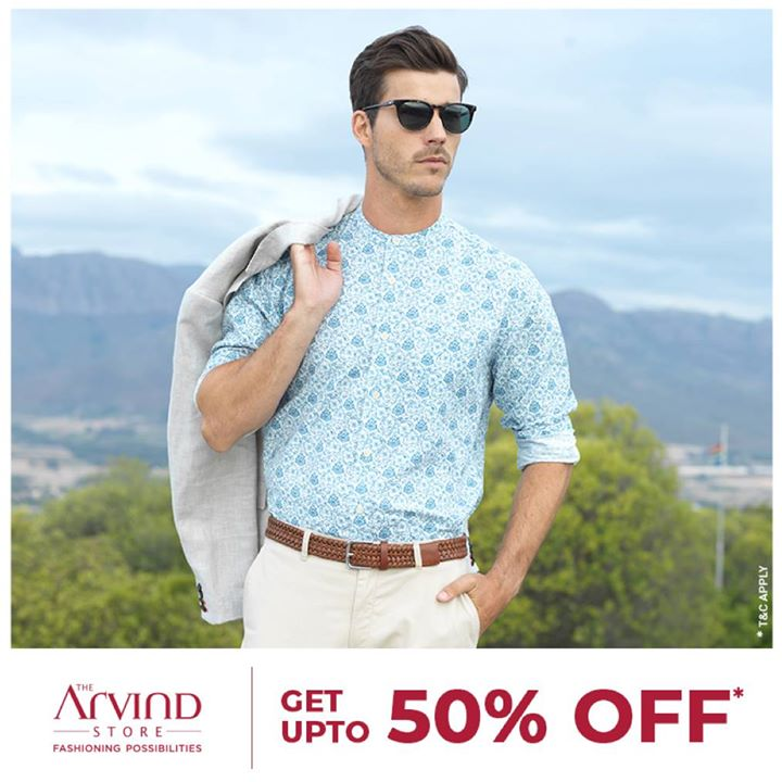 The cool blue look to ace up your presence, wherever you go! Get up to 50% off for this stylish shirt, blazer jacket and chinos.   Buy now on nnnow.com  T&C apply.    #ReadyToWear #TheArvindStore #ShopNow #MensWear