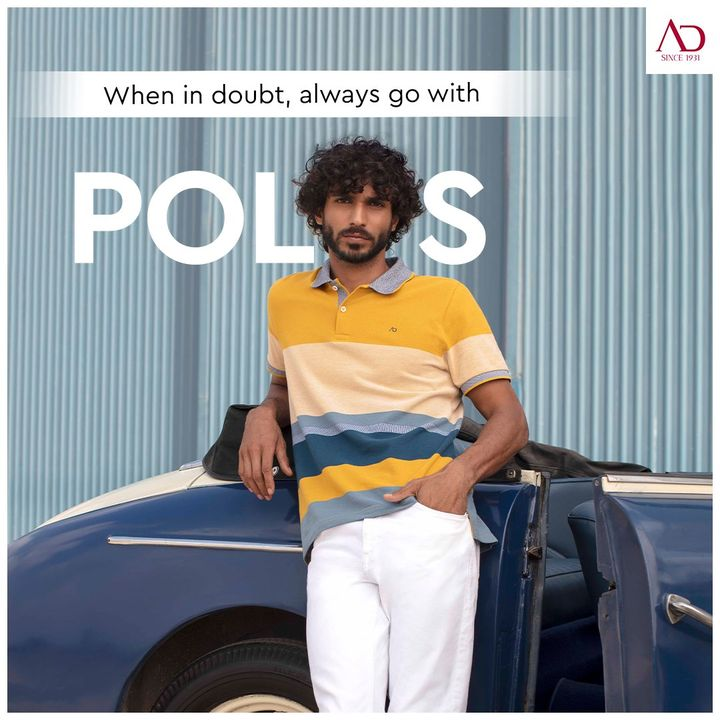 The polos have stepped up, with their bright colourways. Pair it with stretch white denim to help you run your errands smoothly. . . .  #ADfashion #ArvindFashion #TheArvindStore  #Menswear #MensFashion #Fashion #style #comfortable #classicmenswear #polo #polostyle #brightcolours #smartcasual #StayStylish