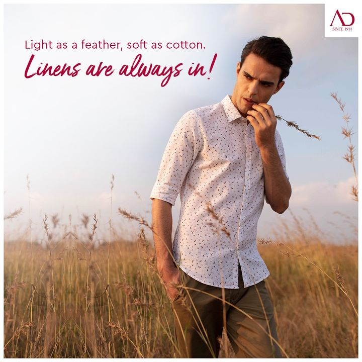 Escape to your comfort zone with our light cotton linen shirt.  . . . #ADfashion #ArvindFashion #TheArvindStore #Menswear #MensFashion #Fashion #style #comfortable #classicmenswear #cottonshirt #linenshirts #brightcolours #smartcasual #staystylish