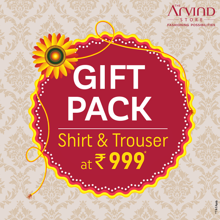 Some shirts are lucky because someone special had chosen them. This Rakshabandhan, give your brother a fashionable gift.  Head to the nearest Arvind store today! bit.ly/TASStoreLocator