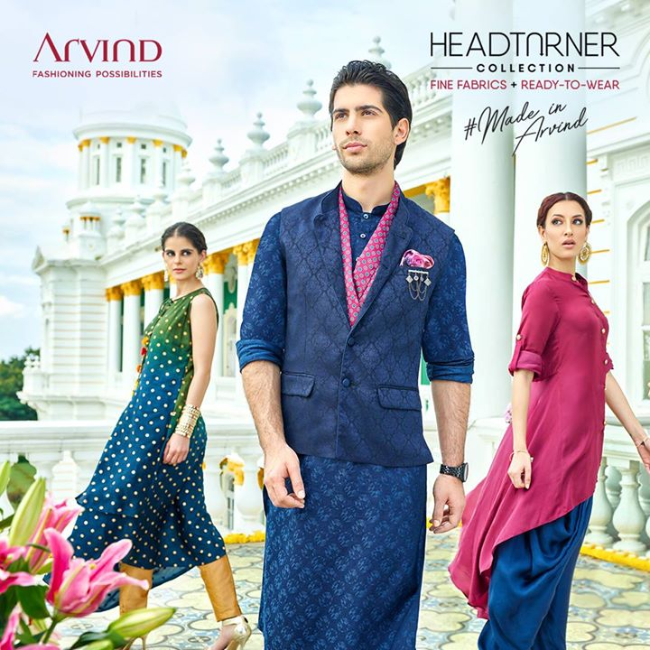 Get effortless attention with our latest Autumn-Winter #HeadTurner collection.  Now available in stores near you: bit.ly/TASStoreLocator or  shop Arvind Ready To Wear at https://arvind.nnnow.com/