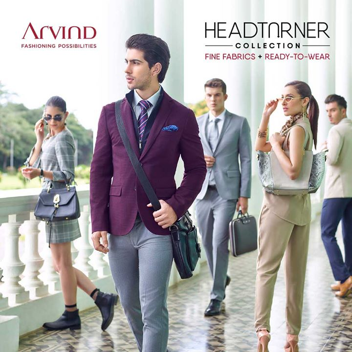 Meet the world's most unique blazer -- it has a detachable panel -- so you can dress it up or dress it down. Go from work to party or party to work (hey, we don't judge) in no time at all. Plus, it's water and wrinkle resistant! You can't help but fall head over heels for #Arvind's latest #HeadTurnerCollection #readytowear #menswear #mensfashion. Visit the nearest store https://bit.ly/2geFHkt  or shop online at https://bit.ly/2B2Nn3a
