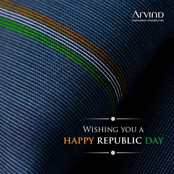 Exercise your right to fashion. Happy 70th Republic Day from Arvind.