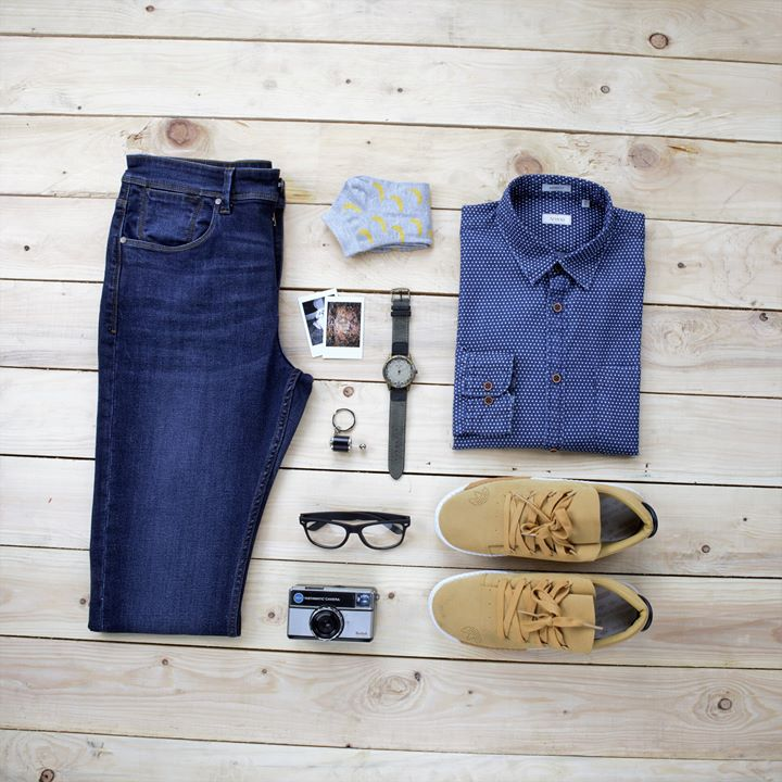 Never fail to make an impression when you walk out with your Arvind jeans and Indigo shirt!