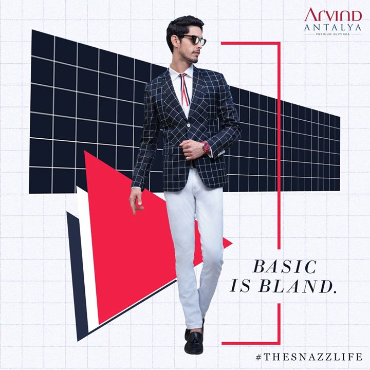 When you're living #TheSnazzLife, you see possibilities in pattern. Turn that possibility into something magical with Arvind Antalya Range of suits.  #ArvindFashioningPossibilities