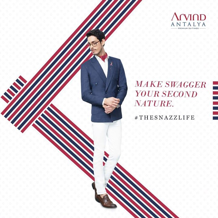 Are you in a mood to redefine style?  Then try out this dapper suit from our Antalya Range. It's time to live up #TheSnazzLife 👨🏻‍💼🕺🏽  #ArvindFashioningPossibilities #menswear #mensuits #menstyle