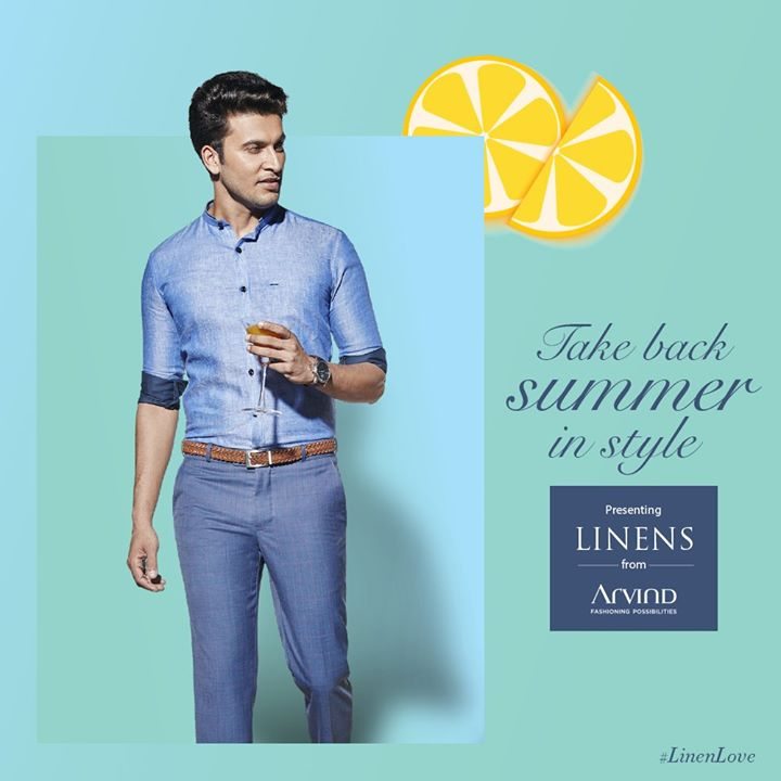 Why should summer stop you from living to the fullest? Try our range of Linen shirts and trousers and get the better of the heat.  #LinenLove #ArvindFashioningPossibilities #Linen