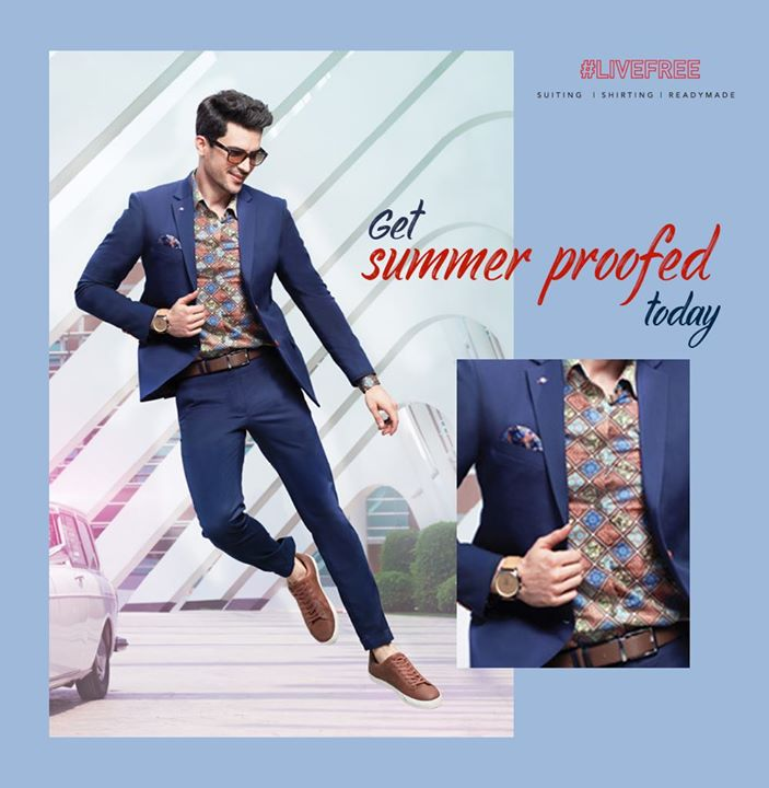 Arvind SS19 range of clothes are made with a blend of Tencel and cotton to protect you from heat. Don't just look fab, but also feel fab and #LiveFree in Arvind's SS19 range.  #ArvindFashioningPossibilities #SS19 #Summer #LiveFree