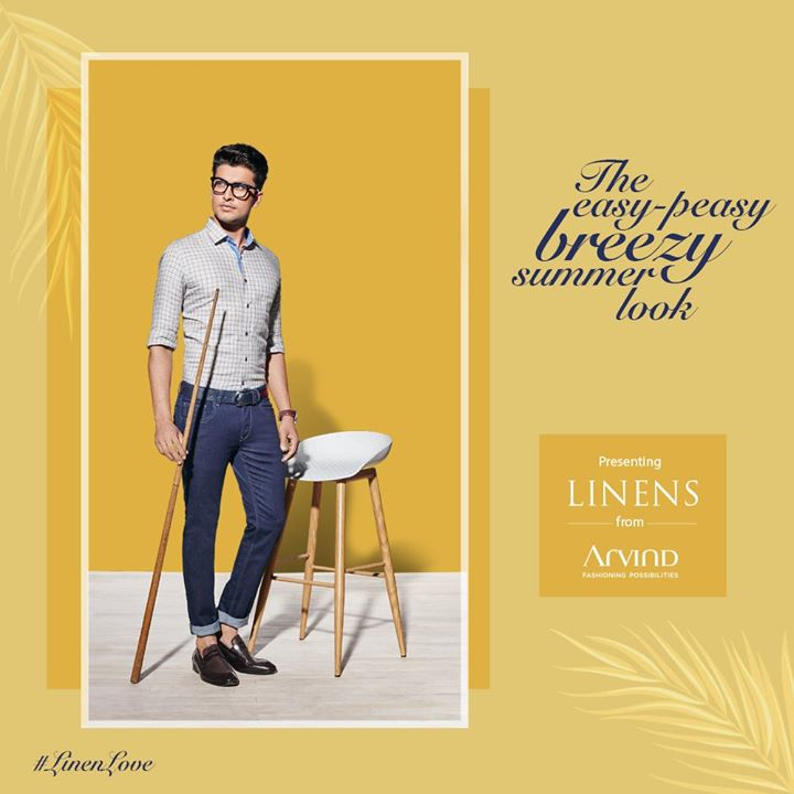 Linen is the world's strongest natural fiber. It absorbs moisture and keeps you cool in the heat. That's the reason for our #LinenLove. Check out our collection now.  #LinenLove #ArvindFashioningPossibilities #Linen