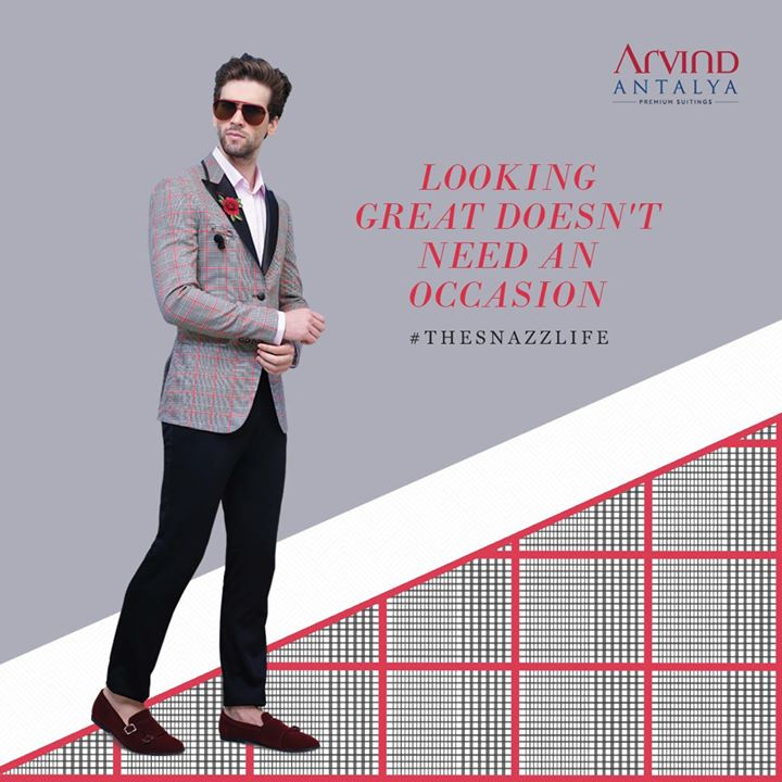 Breaking the rut comes naturally to those who choose to dress from Arvind's Antalya range of suits. Make a statement and live #TheSnazzLife today.  #ArvindFashioningPossibilities #menswear #mensuits #menstyle