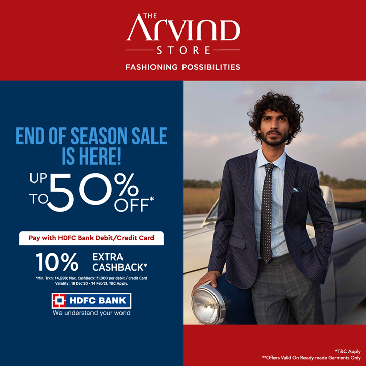 The Arvind Store,  ADfashion, ArvindFashion, TheArvindStore, EndOfSeasonSale, 2021sale, discounts, Menswear, MensFashion, Fashion, style, comfortable, classicmenswear, texturedfabrics, smartcasual, firstimpressions, dressforsuccess, StayStylish